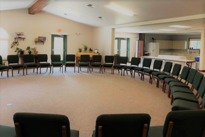 Chairs in a circle in main room