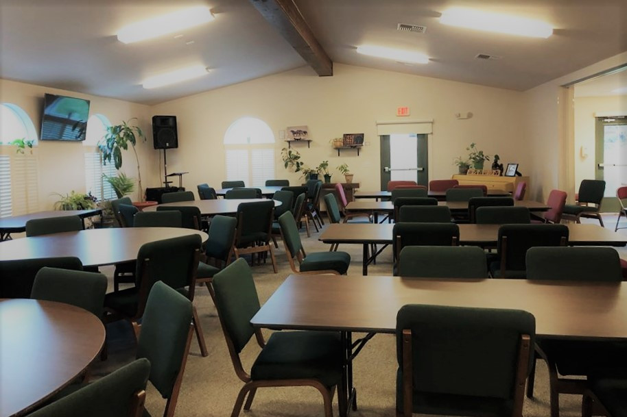 Tables and chairs in main room